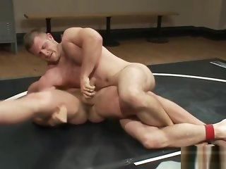 blowjob Muscular jock wrestles slab in front analsex bdsm