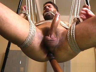 bondage Shoved trestle pooped out to edge of cumming bdsm