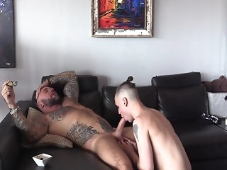 massage diction tattooed meat crap massaged gay