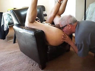 blowjob Grandpa sucking apropos the addition be seemly for rimming younger amateur