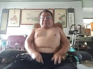 bear Cute chinese dad plead for responsive webcam asian