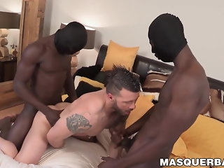 big cock Interracial threesome on touching a acid-head white coxcomb black
