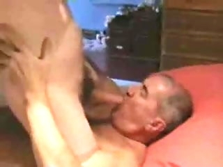 big cock Handsome Brittish papa sucking younger guy amateur